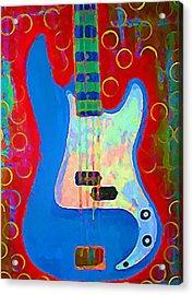 Blue Bass Acrylic Print by Gregory McLaughlin
