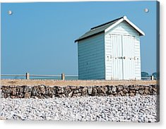 Blue Beach Hut Acrylic Print