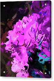 Blue Behind Pink Acrylic Print