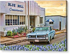 Blue Bell, Bluebonnets, And My Grand Prix Acrylic Print