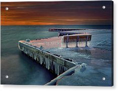 Blue Bench Acrylic Print