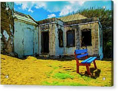 Blue Bench Acrylic Print