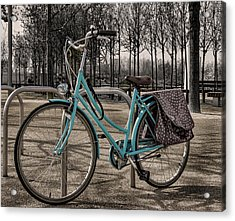 Blue Bicycle Acrylic Print by Martin Newman