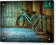 Blue Bicycle Acrylic Print by Randall Nyhof