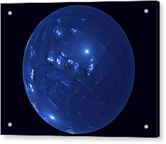 Blue Big Sphere With Squares Acrylic Print