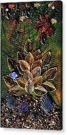 Blue Bird Singing In An Autumn Tree Acrylic Print