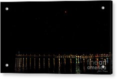 Blue Blood Moon 2018 Ventura, California Pier Acrylic Print