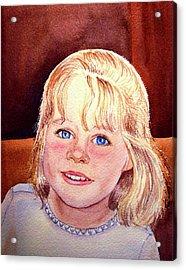 Blue Blue Eyes Acrylic Print by Irina Sztukowski