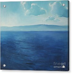 Blue Blue Sky Over The Sea  Acrylic Print