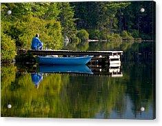 Blue Boat Acrylic Print