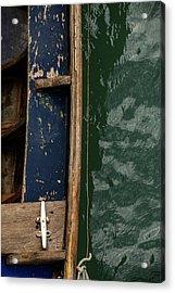 Blue Boat, Venice Acrylic Print by Art Ferrier