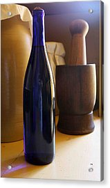 Blue Bottle And Mortar Acrylic Print