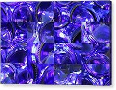 Blue Bottle Bottoms Acrylic Print