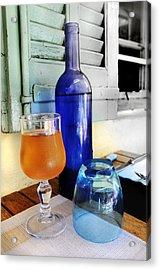 Blue Bottle Acrylic Print by Martine Affre Eisenlohr