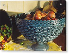 Blue Bowl Acrylic Print by Jan Amiss Photography