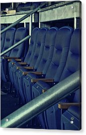Blue Box Seats Acrylic Print by JAMART Photography