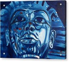 Blue Boy Acrylic Print by Howard Stroman