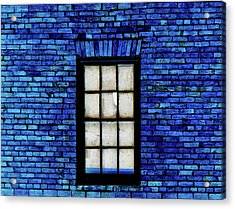 Acrylic Print featuring the digital art Blue Brick by Robert Geary