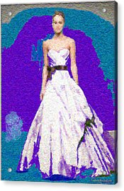Blue Bride Acrylic Print by Penfield Hondros