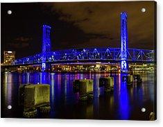 Blue Bridge 1 Acrylic Print by Arthur Dodd