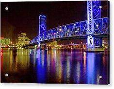 Blue Bridge 2 Acrylic Print by Arthur Dodd