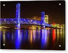 Blue Bridge 3 Acrylic Print by Arthur Dodd