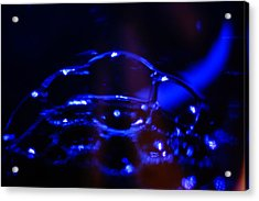 Acrylic Print featuring the digital art Blue Bubbles by Jana Russon