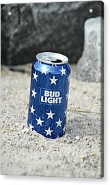Blue Bud Light Acrylic Print