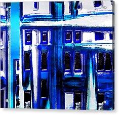 Blue Buildings Acrylic Print