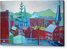 Blue Burlington Acrylic Print by Debra Bretton Robinson