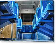 Blue Bus Seats Acrylic Print