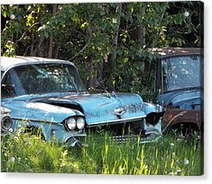 Blue Cadillac Acrylic Print