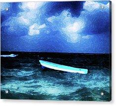 Blue Cancun Acrylic Print