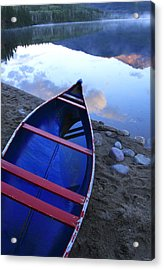 Blue Canoe Acrylic Print by Catherine Alfidi