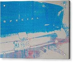 Blue Car Acrylic Print by David Studwell