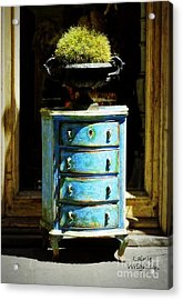 Blue Chest Of Drawers Acrylic Print