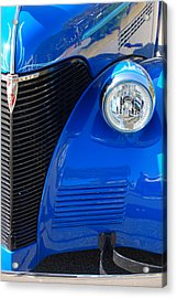 Blue Chevy Acrylic Print by Donna Bentley