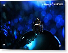 Blue Christmas Acrylic Print by Celestial  Blue
