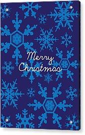 Blue Christmas Snowflakes Acrylic Print
