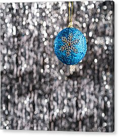 Acrylic Print featuring the photograph Blue Christmas by Ulrich Schade