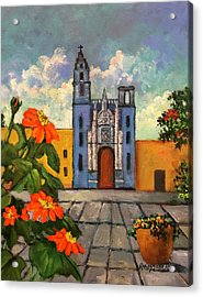 Blue Church   Iglesia Azul Acrylic Print