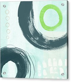 Blue Circles 3- Art By Linda Woods Acrylic Print