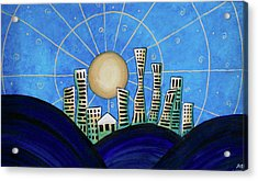 Blue City  Acrylic Print