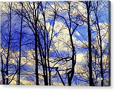 Blue Clouds Acrylic Print by Aron Chervin
