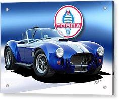 Blue Cobra Acrylic Print