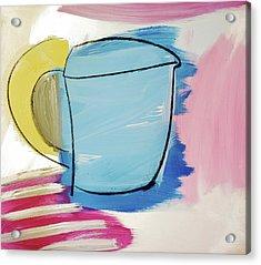 Blue Coffee Mug Acrylic Print by Amara Dacer
