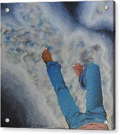 Blue Collar Dreams Acrylic Print by Alexander Menchero