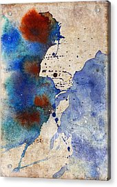Blue Color Splash Acrylic Print