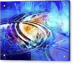 Blue Connexion Acrylic Print by Lutz Baar