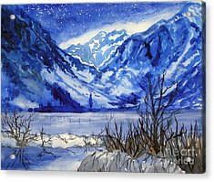 Acrylic Print featuring the painting Blue Convict by Pat Crowther